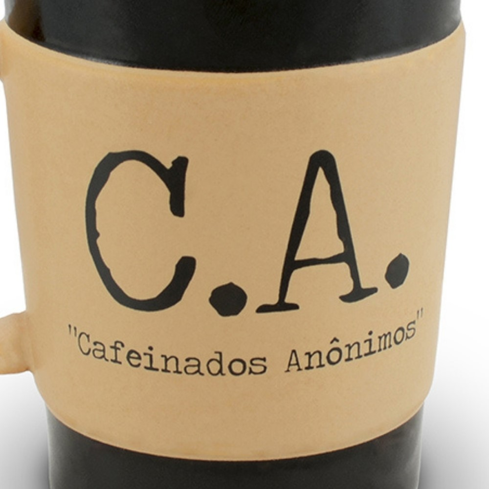 Caneca De Cerâmica Coffee To Go ''C.A'' 300Ml - Pardo Fosco Ceraflame