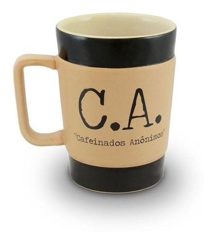 Caneca De Cerâmica Coffee To Go ''C.A'' 300Ml - Pardo Fosco Mondoceram
