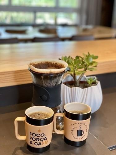 Caneca De Cerâmica Coffee To Go ''Procafeinar'' 300Ml - Pardo Fosco Ceraflame