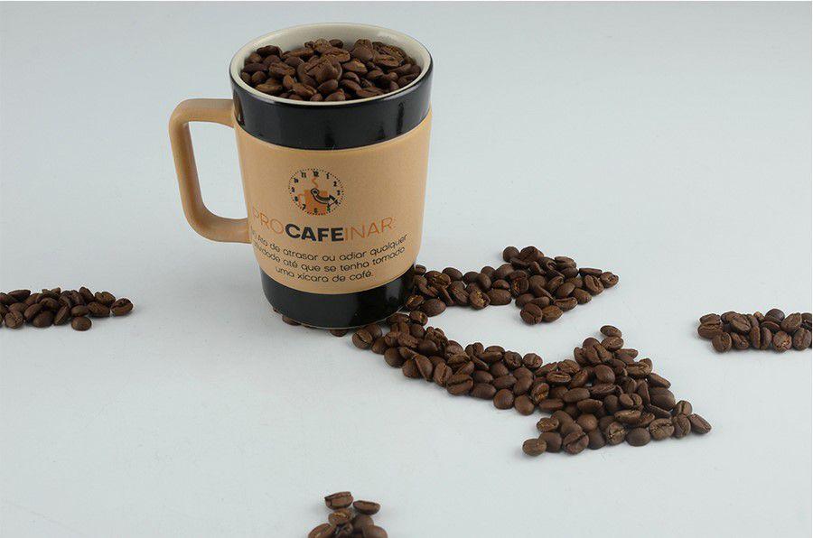 Caneca De Cerâmica Coffee To Go ''Procafeinar'' 70Ml - Pardo Fosco Mondoceram