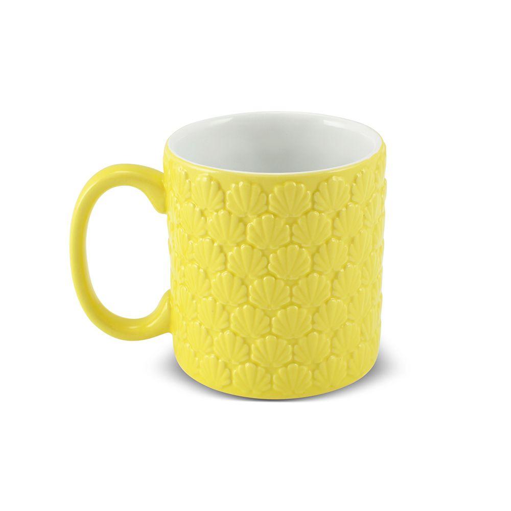Caneca De Cerâmica Ceraflame 4 Estações 300Ml - Verão - Amarelo Pirulito