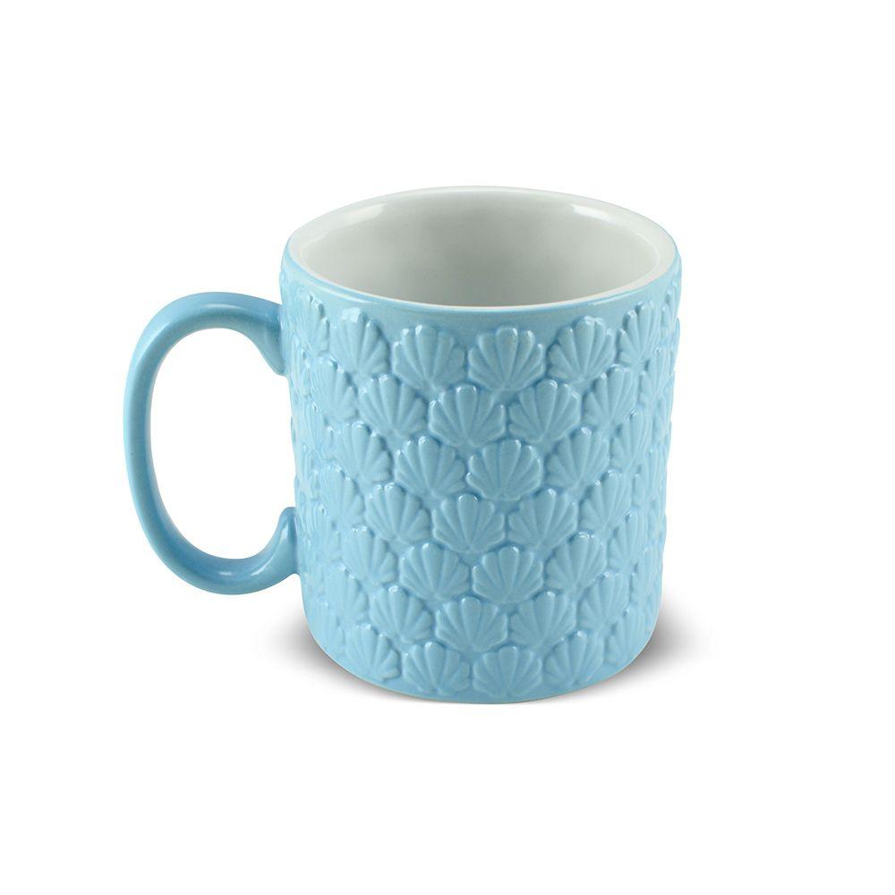 Caneca De Cerâmica Ceraflame 4 Estações 300Ml - Verão - Azul Bebê