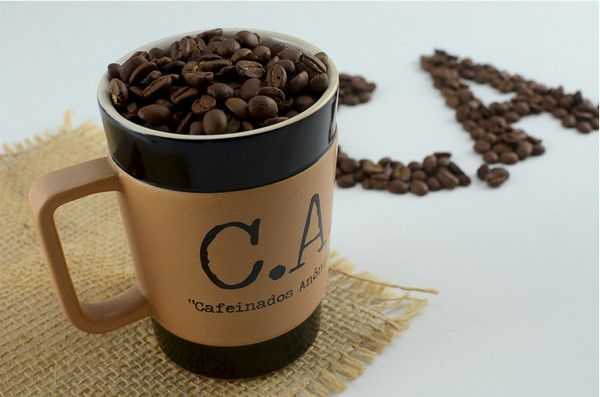 Caneca De Cerâmica Mondoceram Coffee To Go C.A 150Ml - Pardo Fosco