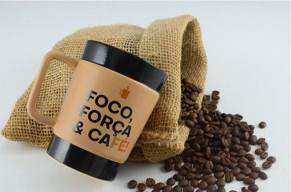 Caneca De Cerâmica Mondoceram Coffee To Go Foco 150Ml - Pardo Fosco