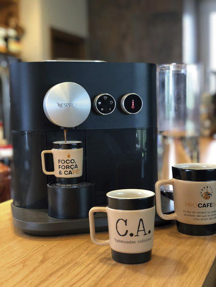 Caneca De Cerâmica Mondoceram Coffee To Go Procafeinar 150Ml - Pardo Fosco