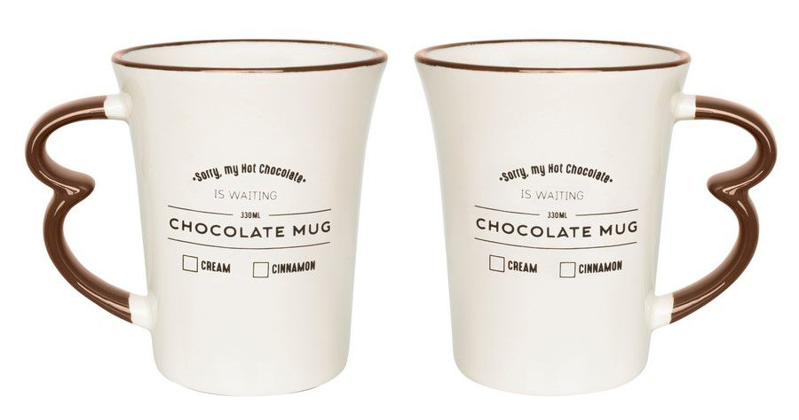 Caneca Easy Hot Drinks Chocolate Mug 330Ml - Oxford Daily
