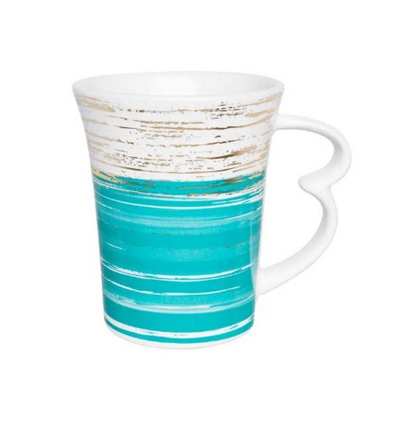Caneca Easy Pinceladas Azul 330Ml - Oxford Daily