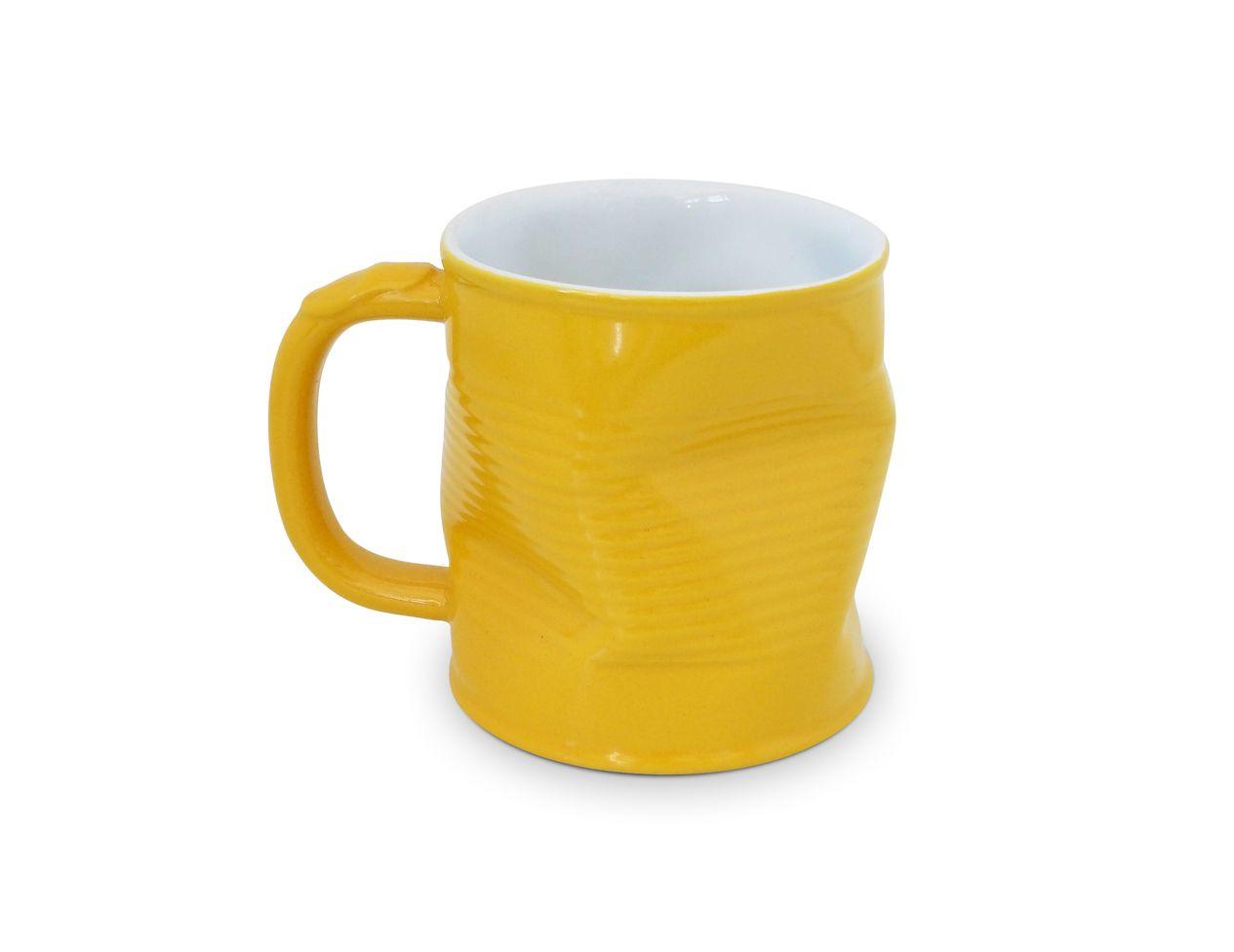 Caneca Lata Amassada 220Ml - Amarelo