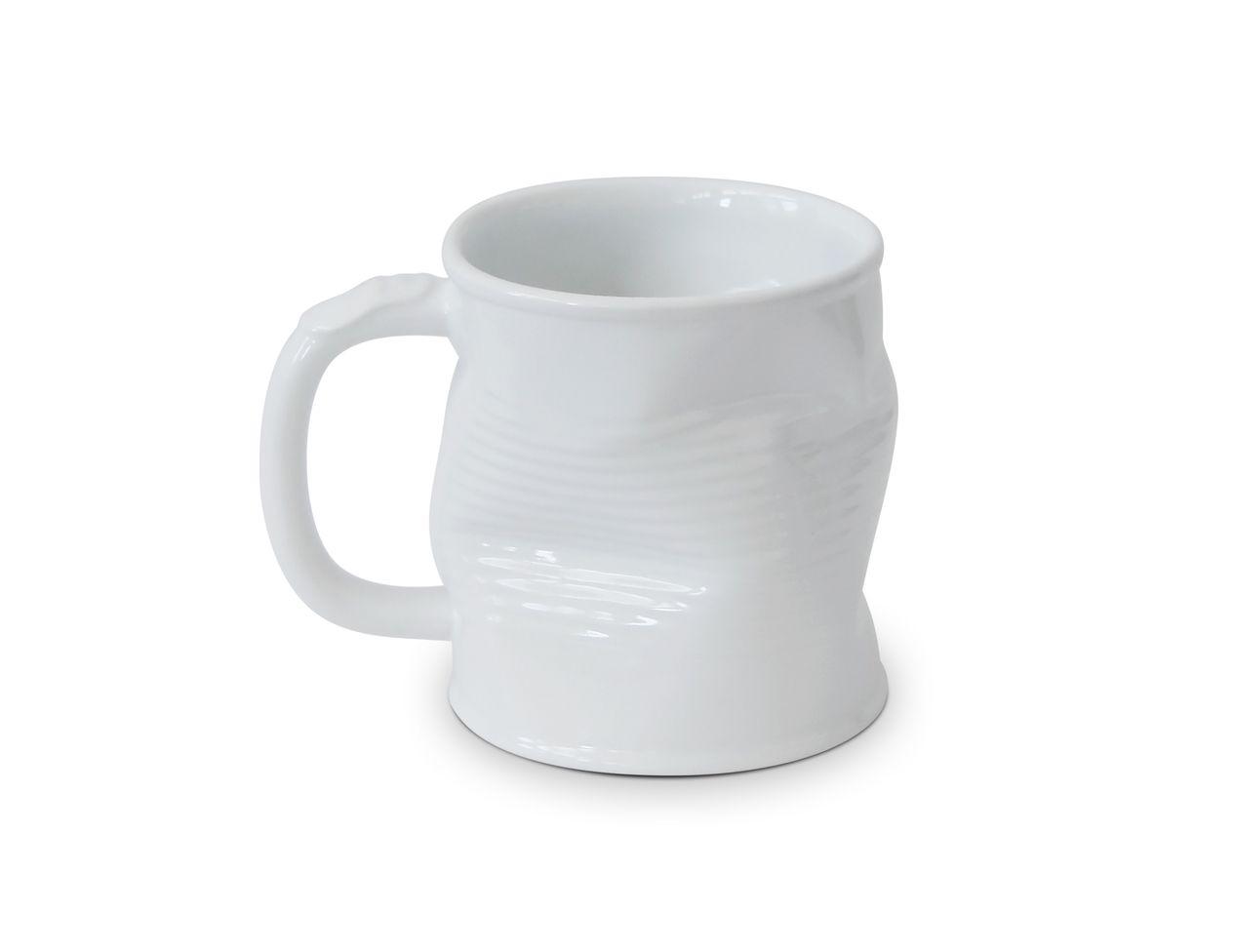 Caneca Lata Amassada 220Ml - Branco