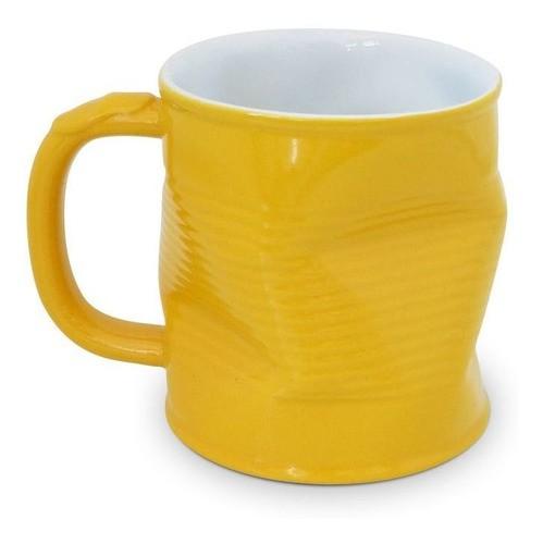 Caneca Lata Amassada 220Ml Ceraflame - Amarelo