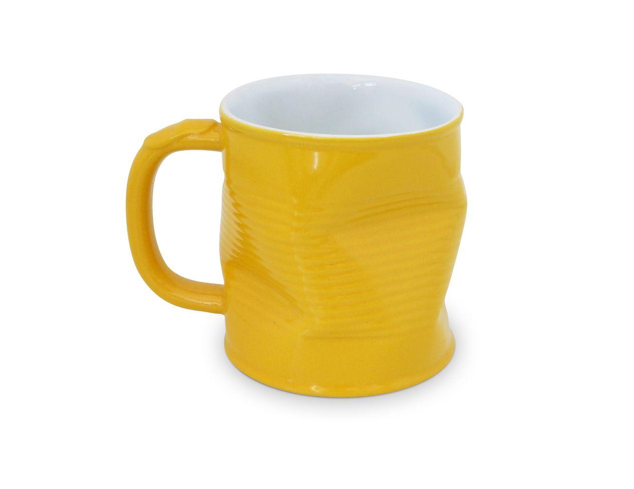 Caneca Lata Amassada 320Ml - Amarelo