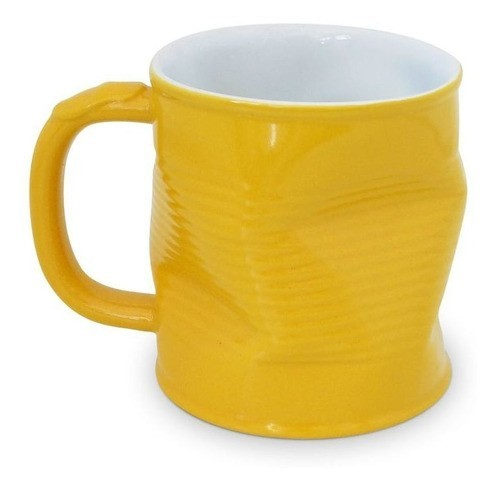 Caneca Lata Amassada 320Ml Ceraflame  - Amarelo