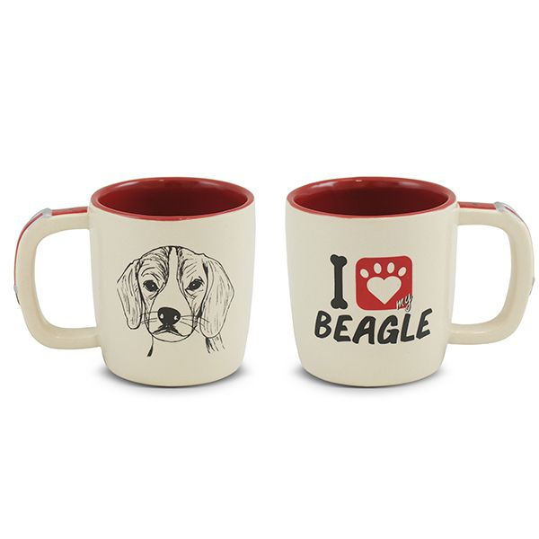 Caneca Mondoceram Pet Beagle 350Ml