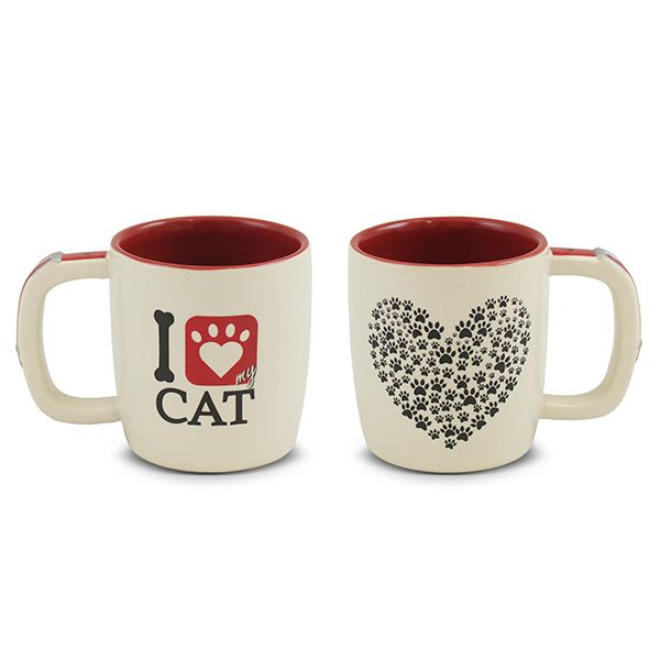 Caneca Mondoceram Pet Cat 350Ml