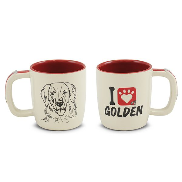 CANECA MONDOCERAM PET GOLDEN 350ML
