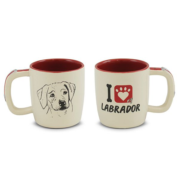 Caneca De Cerâmica Pet Labrador 350Ml Mondoceram
