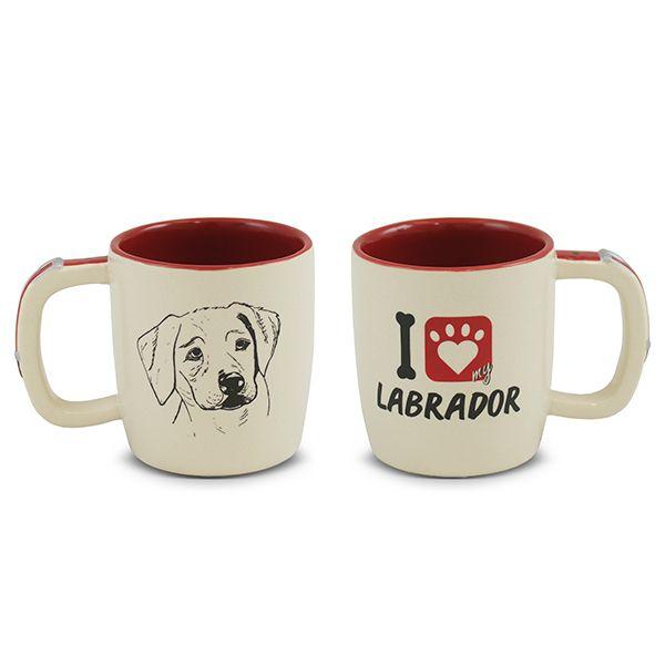 Caneca De Cerâmica Pet Labrador 350Ml Ceraflame