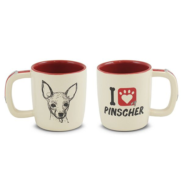 Caneca Mondoceram Pet Pinscher 350Ml
