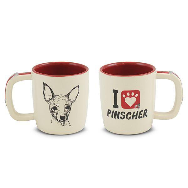 Caneca Ceraflame Pet Pinscher 350Ml