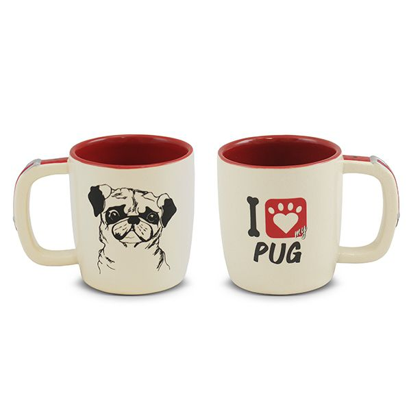 Caneca Ceraflame Pet Pug 350Ml