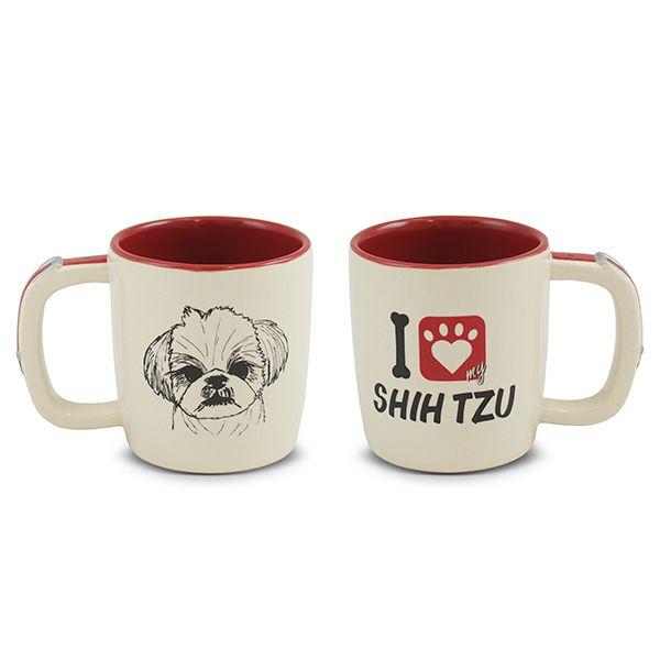 Caneca Mondoceram Pet Shih Tzu 350Ml