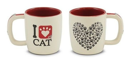 Caneca Pet I Love Cat 350Ml Mondoceram - Gato