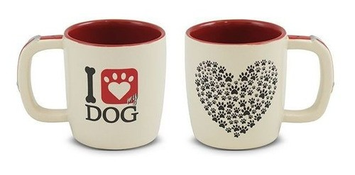 Caneca Pet I Love Dog 350Ml Mondoceram - Cachorro