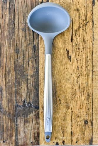 Concha De Silicone Com Cabo Inox 31Cm - Cool Grey - Oxford