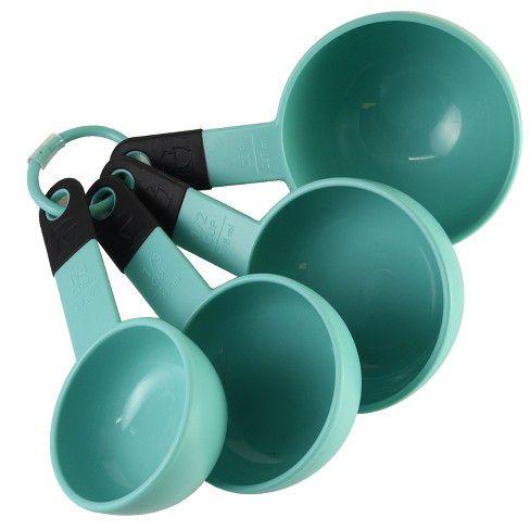 Conjunto 4 Xícaras Medidoras KitchenAid Azul