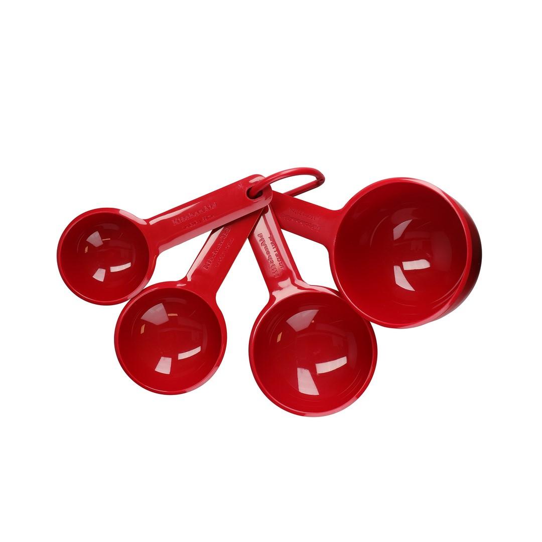 Conjunto 4 Xícaras Medidoras KitchenAid Vermelha