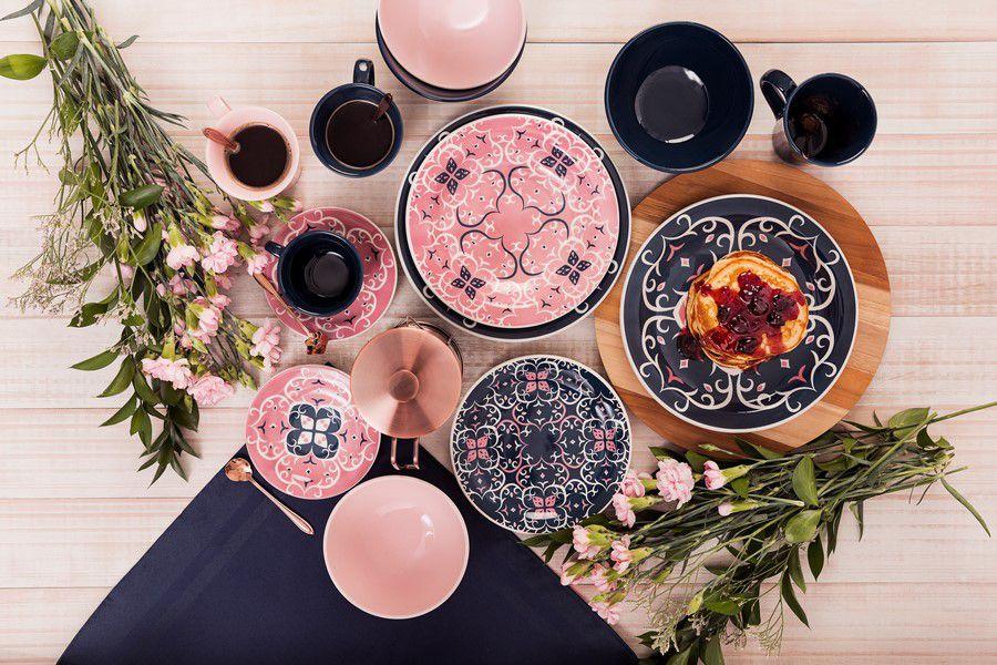 Conjunto 6 Pratos De Sobremesa 20Cm Floreal Hana - Oxford Daily