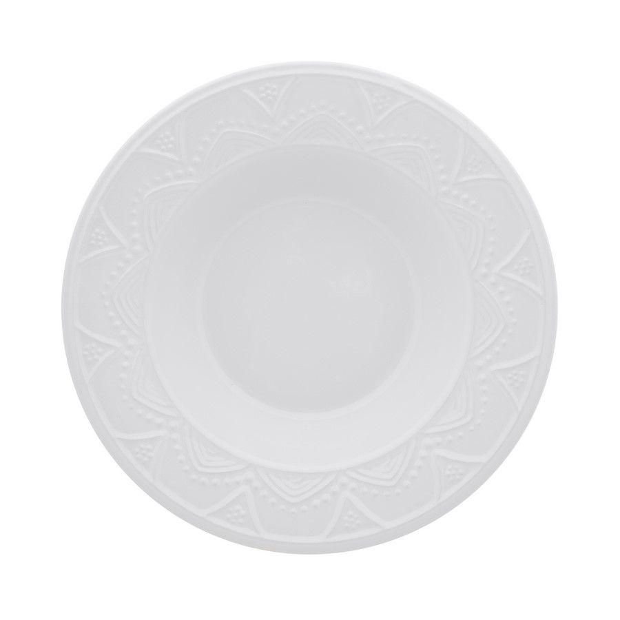 Conjunto 6 Pratos Fundos 22,5Cm White - Oxford Porcelanas