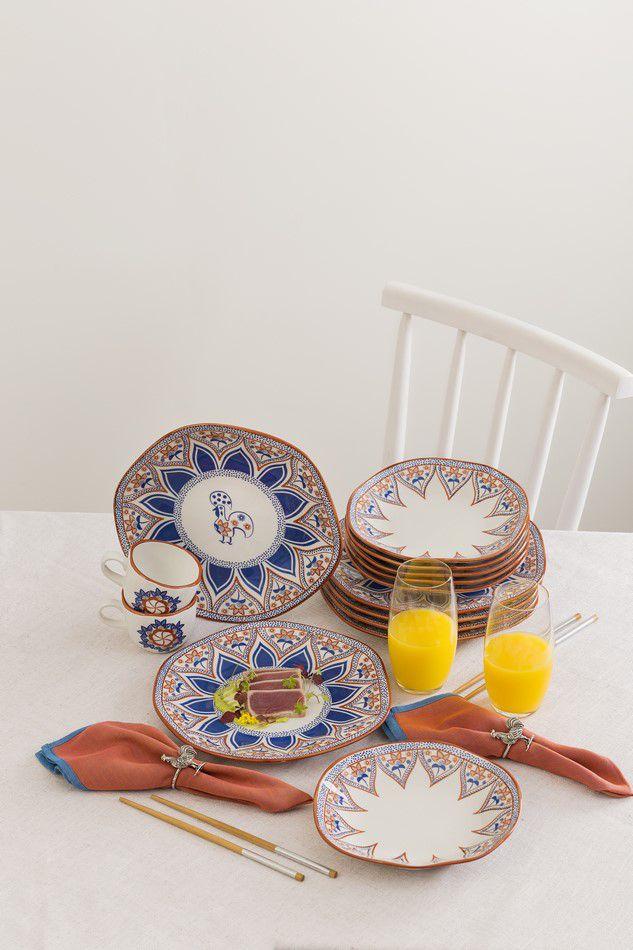 Conjunto 6 Pratos Rasos 27,5Cm Ryo Barcelos - Oxford Porcelanas