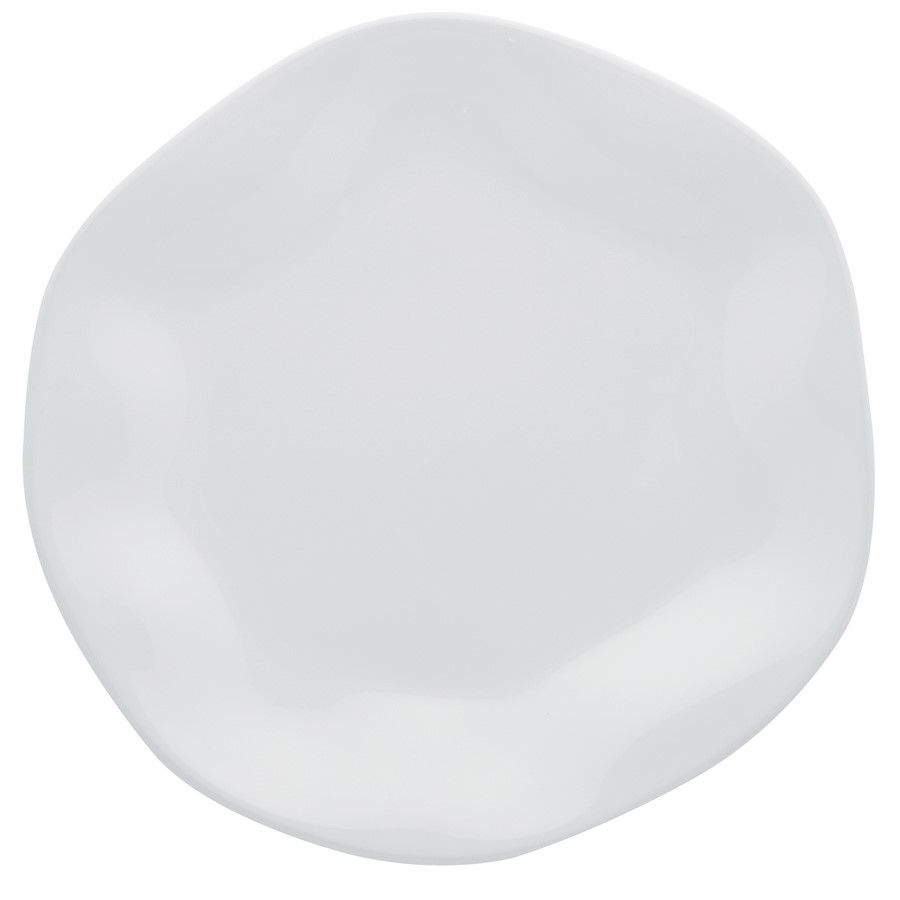 Conjunto 6 Pratos Rasos 27,5Cm Ryo White - Oxford Porcelanas