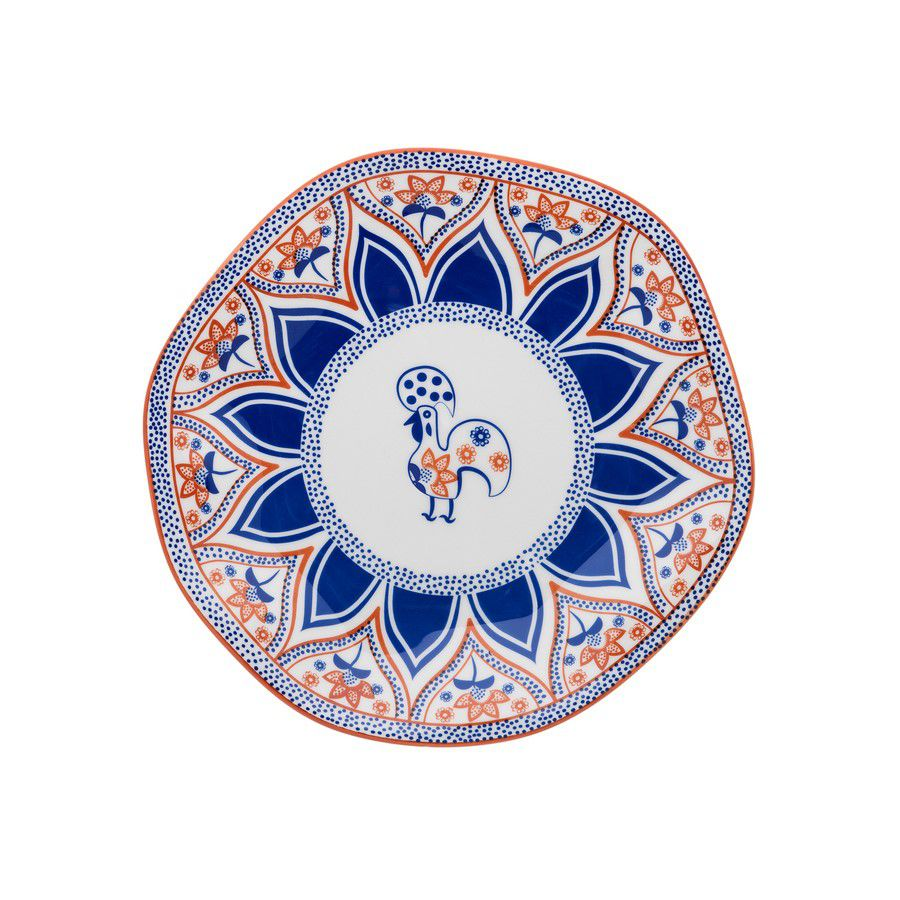 Conjunto 6 Pratos Sobremesa 21,5Cm Ryo Barcelos - Oxford Porcelanas