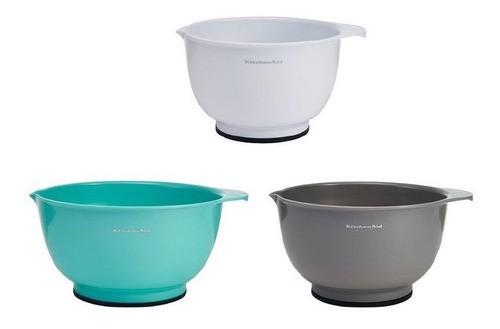 Conjunto Bowls Para Preparação 3 peças KitchenAid - Branco