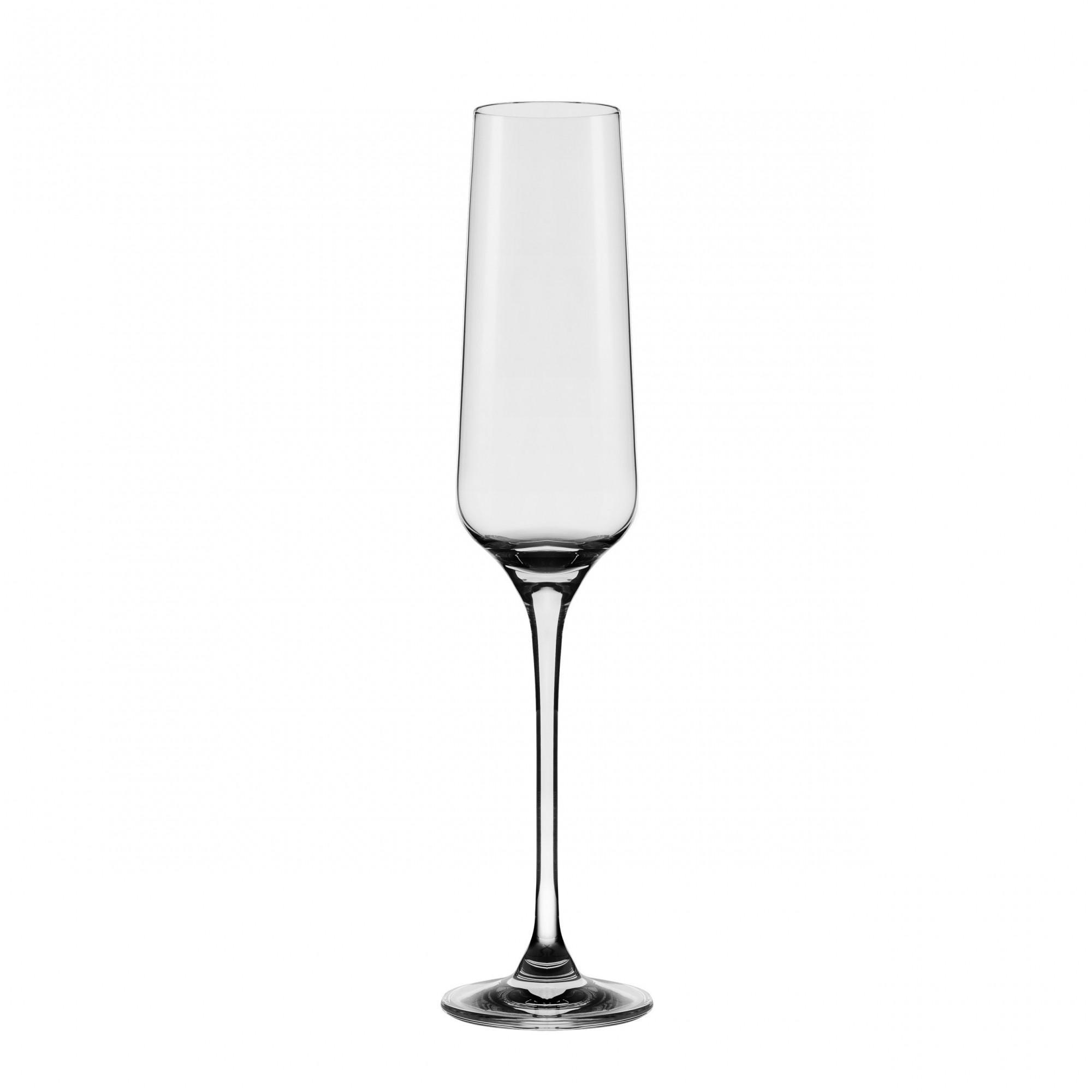 Conjunto C/04 Taças De Cristal Espumante 190Ml - Flavour Classic - Oxford Alumina Crystal