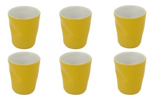 Conjunto C/ 06 Copos De Cerâmica Plastic Espresso 70Ml  -  Amarelo