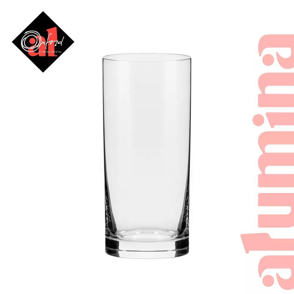 Conjunto C/06 Copos De Cristal 300Ml - Flat Classic - Oxford Alumina Crystal