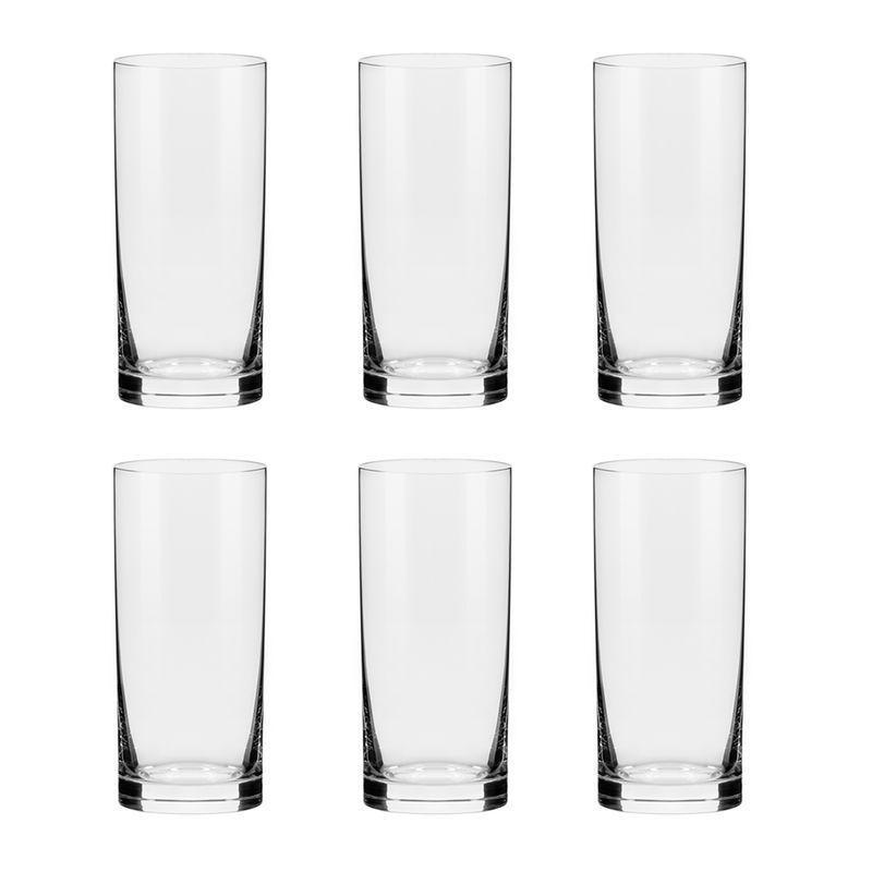 Conjunto C/06 Copos De Cristal 440Ml - Flat Classic - Oxford Alumina Crystal