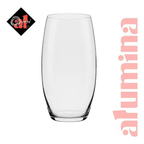 Conjunto C/06 Copos De Cristal 550Ml - Flow Classic - Oxford Alumina Crystal