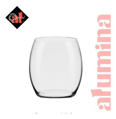 Conjunto C/06 Copos De Cristal On The Rocks 360Ml - Flow Classic - Oxford Alumina Crystal