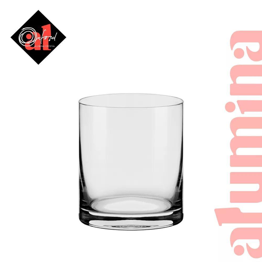 Conjunto C/06 Copos De Cristal On The Rocks 390Ml - Flat Classic - Oxford Alumina Crystal