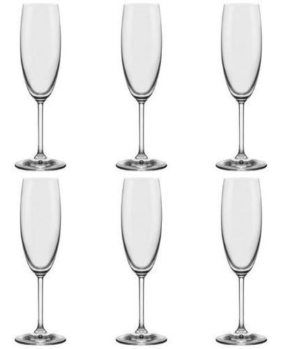 Conjunto C/06 Taças De Cristal Espumante 175Ml - Everyday - Oxford Alumina Crystal