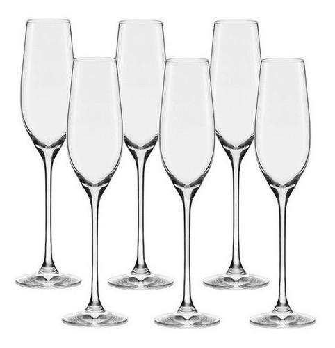 Conjunto C/06 Taças De Cristal Espumante 210Ml - Forever Classic - Oxford Alumina Crystal