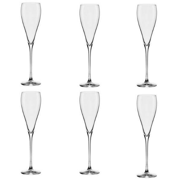 Conjunto C/06 Taças De Cristal Espumante 280Ml - Athenas Classic - Oxford Alumina Crystal