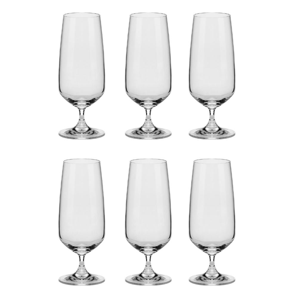 Conjunto C/06 Taças De Cristal P/ Cerveja 380Ml Oxford Alumina Crystal