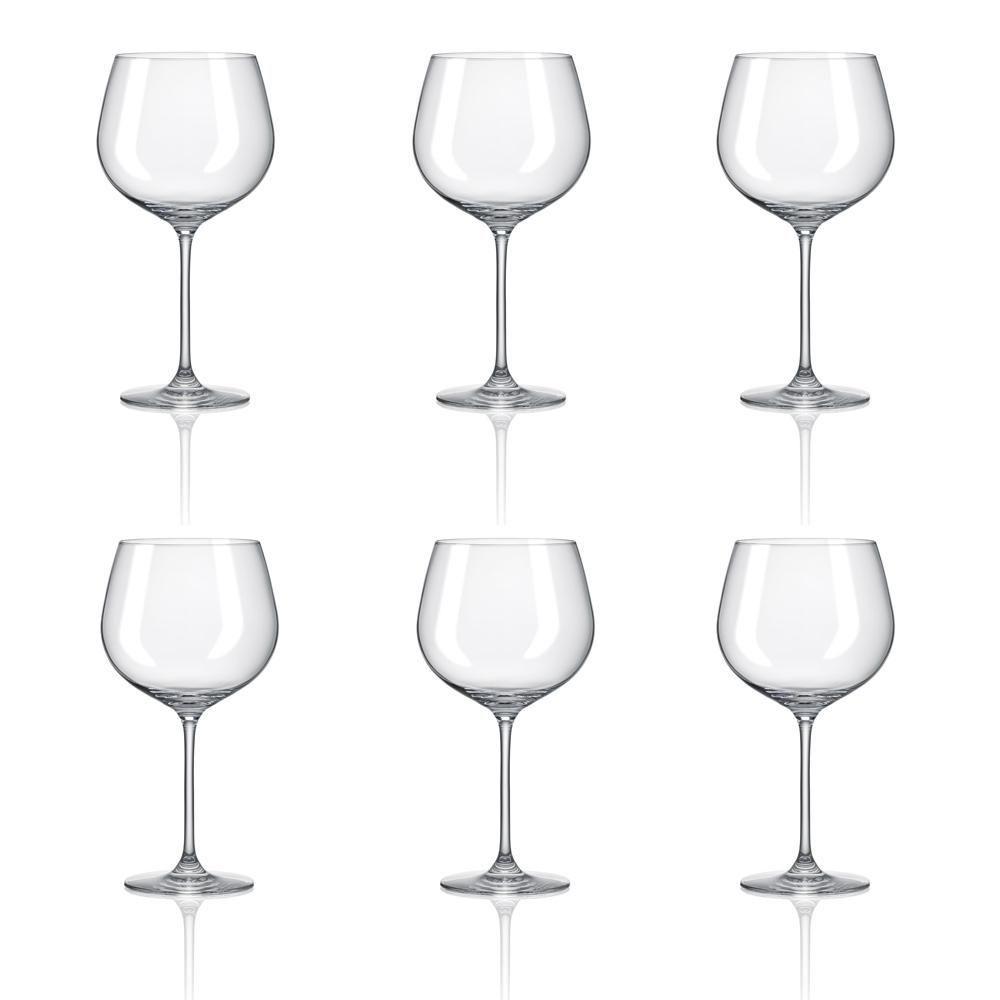 Conjunto C/06 Taças De Cristal Para Gin 780Ml Classic Oxford Alumina Crystal