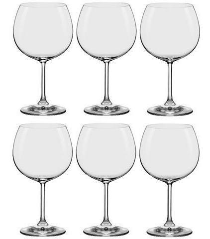Conjunto C/06 Taças De Cristal Tinto | Bourgogne 460Ml - Everyday - Oxford Alumina Crystal