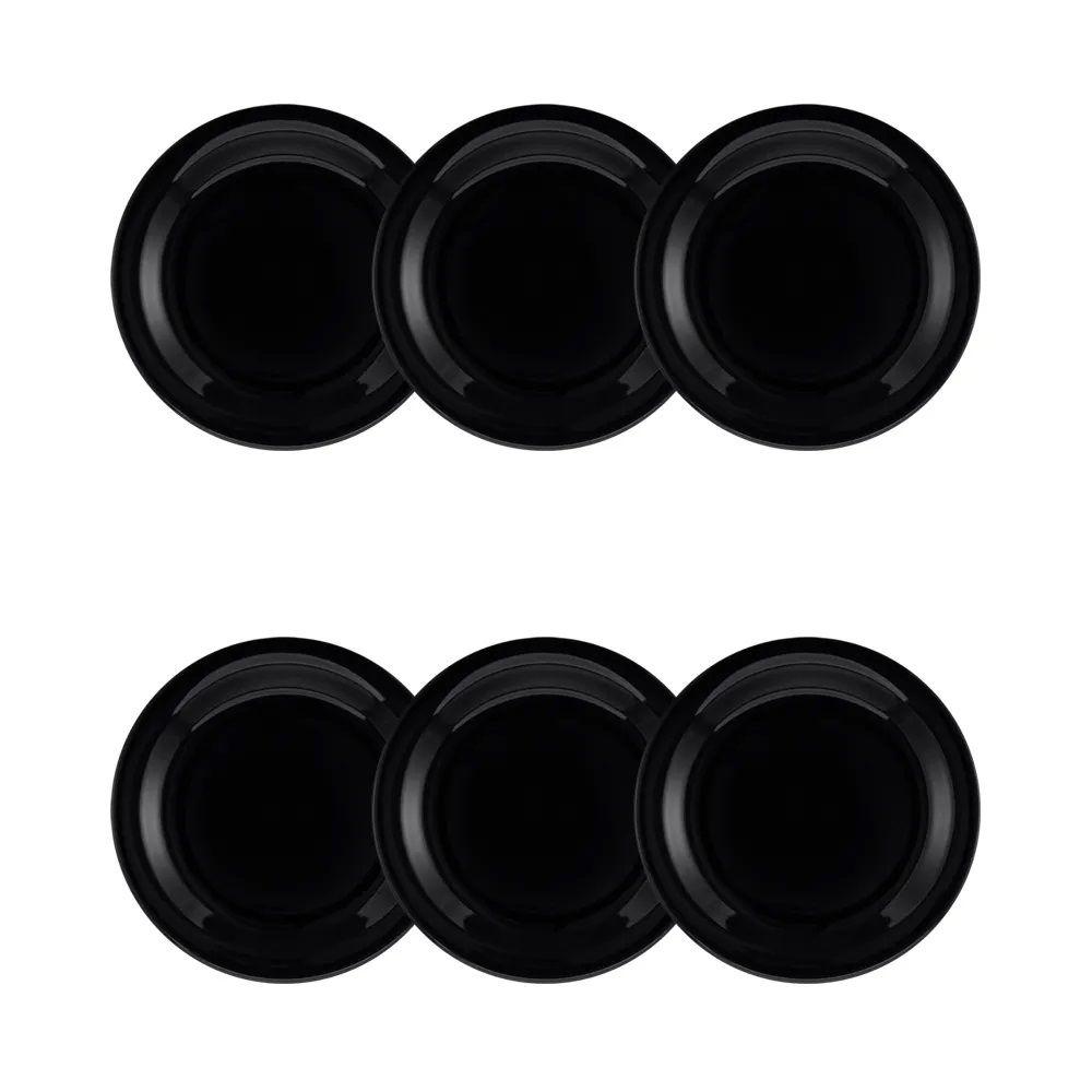 Conjunto C/ 6 Pratos De Sobremesa De 20Cm - Floreal Black - Oxford Daily